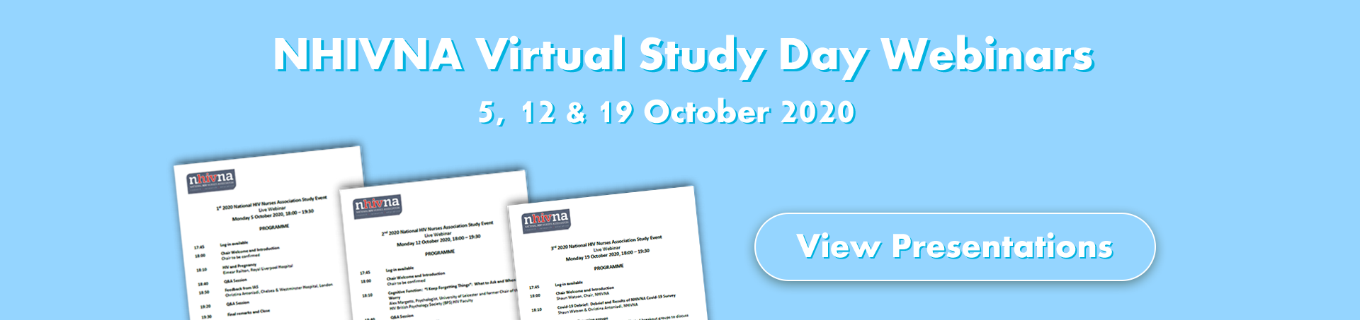 NHIVNA Virtual Study Day Webinars